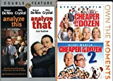 DVD : Wacky Wonky Crazy Families Movie DVD Bundle: Analyze This, Analyze That, Cheaper by the Dozen, Cheaper by the Dozen 2