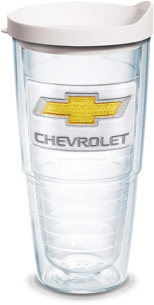 Tervis 1141700 Chevrolet Chevy Tumbler with Emblem and White Lid 16oz Mug Clear