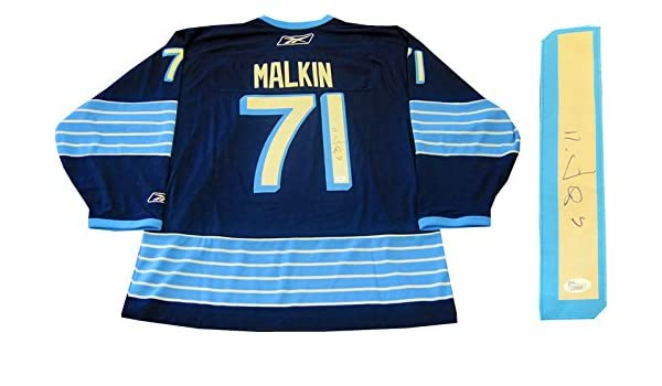 Evgeni Malkin Autographed Pittsburgh Penguins Winter Classic Jersey (JSA)  at Amazon s Sports Collectibles Store 100676a67