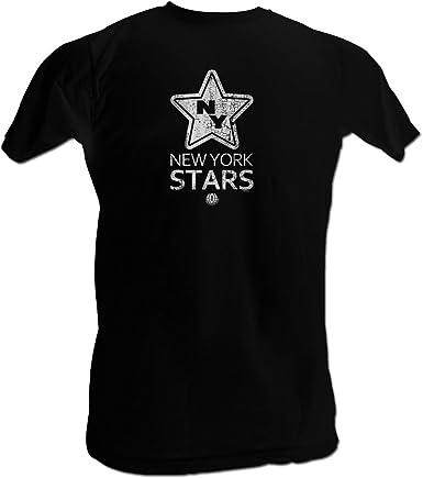 2Bhip WFL Nueva York Estrellas Logo de la Estrella Camiseta para Hombre: Amazon.es: Ropa y accesorios