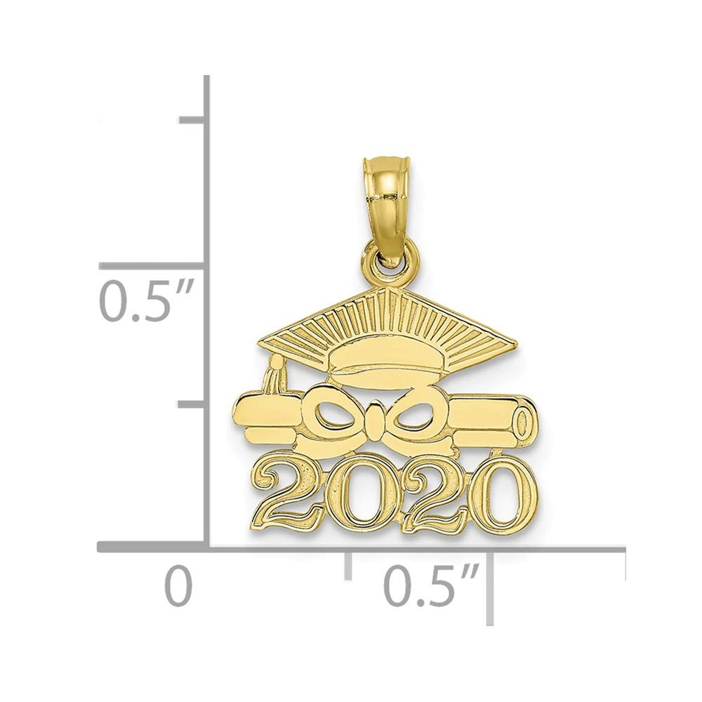 Jewels By Lux 10K Yellow Gold Graduation Cap and Diploma 2020 Pendant