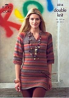 2025734b6 King Cole Ladies Long   Short Sleeved Cardigans Riot DK Knitting ...