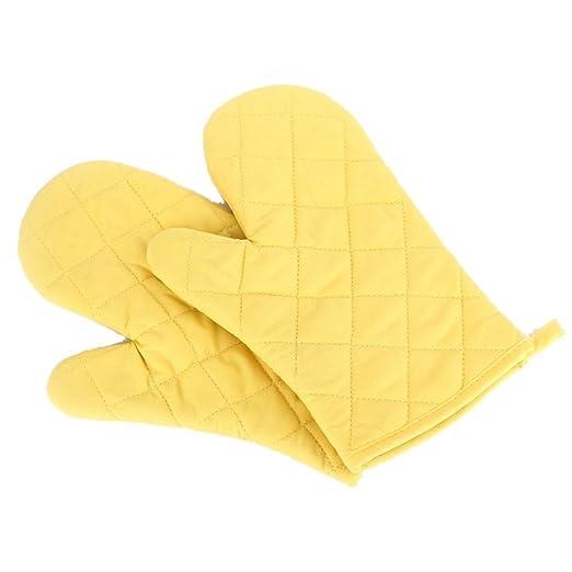 Gudhi 1 par de guantes de cocina para horno microondas resistentes ...