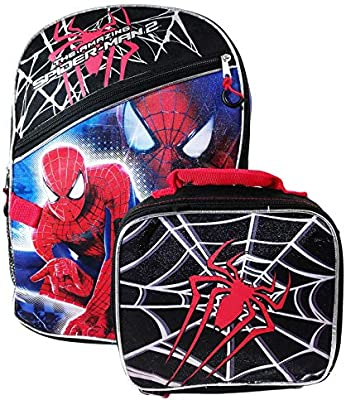 Marvel The Amazing Spiderman Backpack and Insulated Lunch Box Set