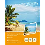 "Topcolor Self-Adhesive High Glossy Inkjet Photo Sticker Paper 8.5""x11"" (206 x 279 mm) for all Inkjet Printers (50 Sheets)"