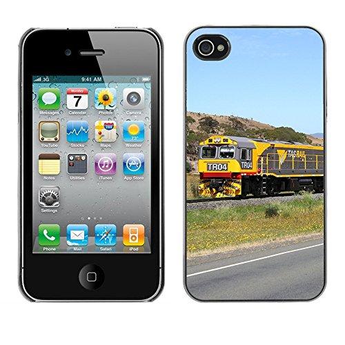 Premio Sottile Slim Cassa Custodia Case Cover Shell // F00006324 Train Tasmanie // Apple iPhone 4 4S 4G