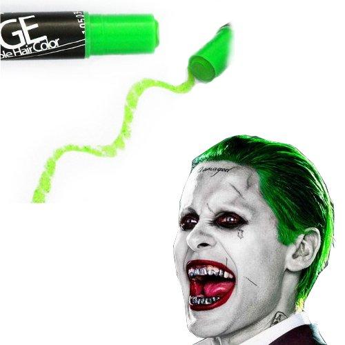Style Halloween Temporary Hair Color -Neon Lime Green Hair Chalk - Edge Blendable Hair Color -
