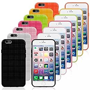 JJE Plaid Pattern TPU Case for iPhone 6(Assorted Colors) , Watermelon