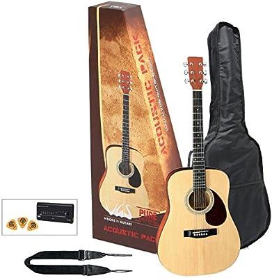 Paquete de acústica GEWApure VGS Natural de la guitarra acústica ...