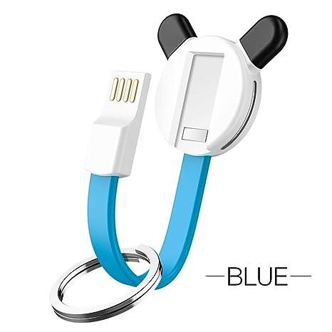 Su-luoyu 3 En 1 Cable USB Cable Llavero Nylon Trenzado ...