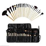 Coper 15 Color Concealer Palette + Sponge Puff + 24 PCS Cosmetic makeup brushes (#A)