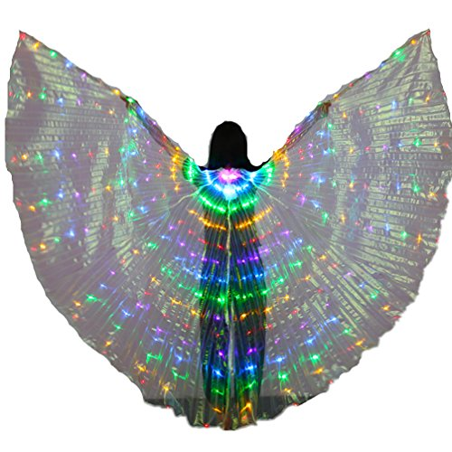 Demon Baby 2018 Party/Pub Luminous LED Angel Belly Dance Isis Wings Costumes Prop for Beauty Pageant(Mixed (Angel Dance Costumes)