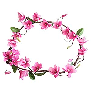 Vacally Artificial Fake Flower Leaf Magnolia Vine Floral Wedding Birthday Party Bouquet Home Decor 83