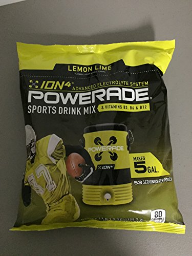 Powerade Lemon Lime Powder Drink Mix, 5 Gallon Bag