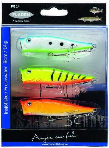 FLADEN-Esche artificiali galleggianti per pesca su lago, confezione da 3 pezzi, ideale per esche (Slow recupero, 9 cm, 14 g, per Pike pesce persico e lucioperca 16-7540 []