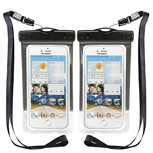 Waterproof Case, NewBEP Universal Water Proof Cell Phone Bag Pouch with Armband (Sea Arm Vii Set)