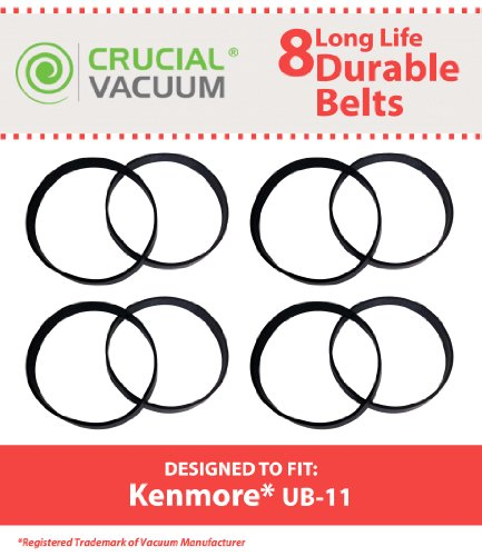 8 Replacement for Kenmore UB-11 Drive Belts, Compatible With Part # 1860140600, by Think Crucial by Crucial Vacuum