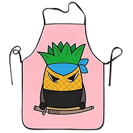 Amazon.com: JAYESH Cute Pineapple Ninja Pink Cooking Apron ...
