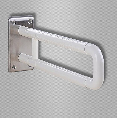 MDRW-Bathroom Handrail U-Bathroom Elderly Persons With Disabilities Nylon Fixing Barrier-Armrest. White by Olici