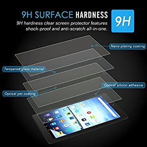 MoKo Screen Protector for Fire HD 10, Premium HD Clear 9H Hardness Tempered Glass Film with Oleophobic Coating for Amazon Kindle Fire HD 10.1 Inch Tablet (5th Generation - 2015 Release)