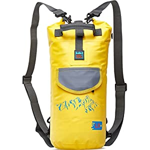 Waterproof Dry Backpack with Straps and Pockets - Floating Dry Bag for Kayaking - Sack for Beach Boating or Fishing (Yellow 10L)
