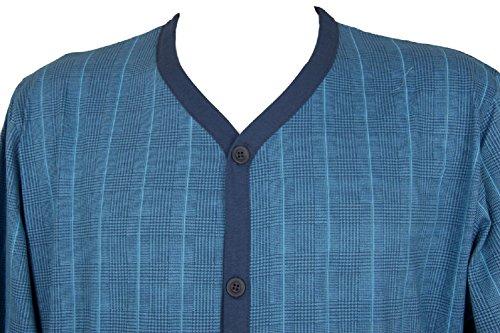 Uomo Ragno Manica Cotone Pigiama Articolo 686f Bottoni N24522 Aperto Jersey Polo Con Lunga Fantasia rran5gw
