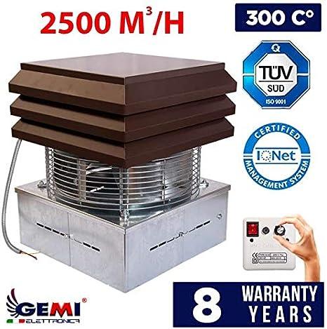 Aspirador de humo el/éctrico para chimeneas chimeneas Gemi extractores de humo chimeneas y barbacoas