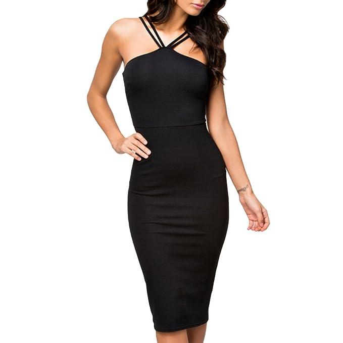 comprare popolare ce0ad 1a60b ABILIO - vestito jersey nero abito sera tubino donna festa ...