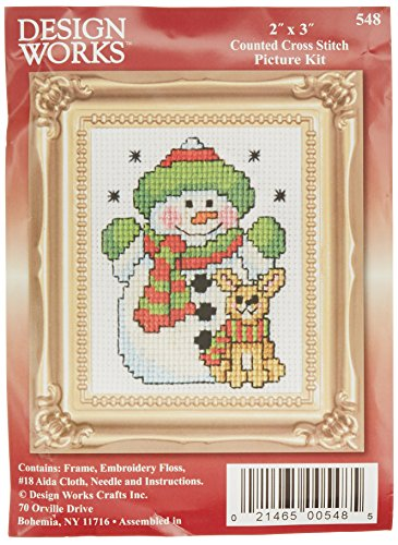n W/Frame Mini Counted Cross Stitch Kit-2