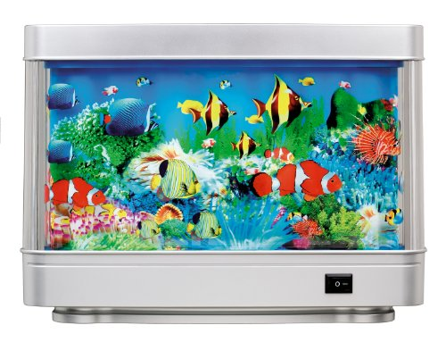 Rotating Living Sea Ocean Aquarium Picture Motion Moving Lamp Night Light AL1200