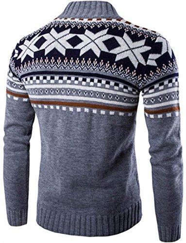 Maglione Cappuccio Inverno 88g4 Uomo Cardigan X Lightgray Snowflake Casuale Jeansian mas Moda YA8wnUqT