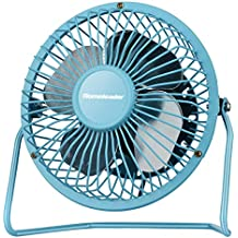 Homeleader Personal Mini Fan, 4 Inch Blades, Blue