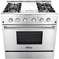 KUPPET Professional 36  HRG3617U 5.2 cu.ft Oven 4 Burners Gas Range