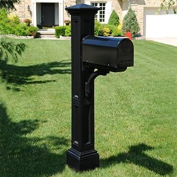 Mayne 5857-B Charleston Mail Post - Black, - Mailbox Poles