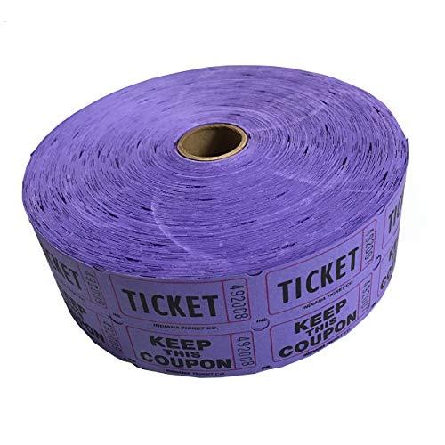 MUNCIE NOVELTY COMPANY Purple Double Raffle Ticket Roll (Purple Roll Of Tickets)