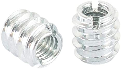"""Zinc Plated Screw-in Nut for Woodworking for Hard and Soft Wood and More 50 Pack Superior Fastening a Woodworking Shop Essential POWERTEC QTI1003 5//16/""""-18 Threaded Insert for Wood"""