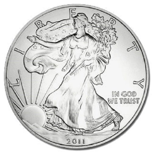 2011 - 1 Ounce American Silver Eagle Low Flat Rate Shipping .999 Fine Silver Dollar Uncirculated US Mint ()