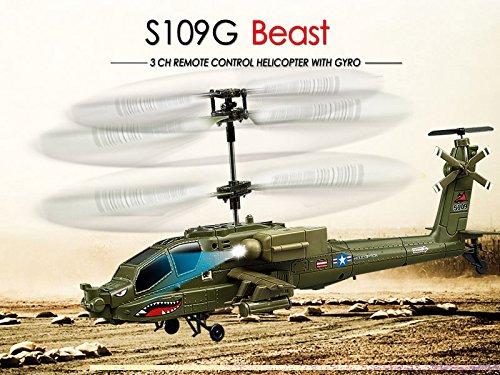 s-idee® 01177   S109G Heli Blackhawk UH-60 Apache Militär Army Hubschrauber mit der neuesten Gyro-Technik, RTF Komplett-Set