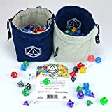 Third Die - Dice Bag - Handcrafted And Reversible Drawstring Bag That Stands Open On The Table - For All Your Gaming Needs