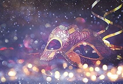 leyiyi 7x5ft photography background glitter mask sparkle spots masquerade rock music ball bridal shower ribbon girls