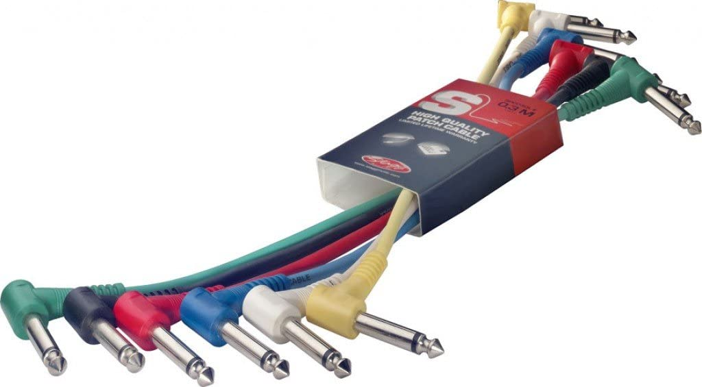 Stagg SPC015L E Patch Cable, 6 unidades,0.15m