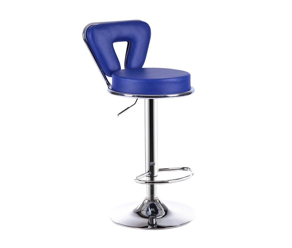 バーチェア、アップグレードスタイルバースツールリフトレザーシンプルフロントデスクハイスツール背もたれ回転84104cm 9色 (色 : Blue) B07DD6H5P1 Blue Blue