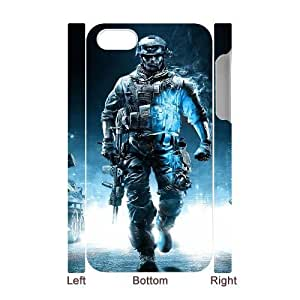 Unique Design Cases iphone4 4S 3D Cell Phone Case White battlefield game Hjfdd Printed Cover Protector