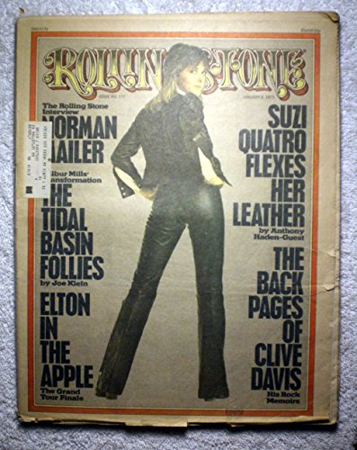 (Suzi Quatro (Leather Tuscadero) - Happy Days - Rolling Stone Magazine - #177 - January 2, 1975 - Norman Mailer Interview Part 1, Clive Davis: His Rock Memoirs)