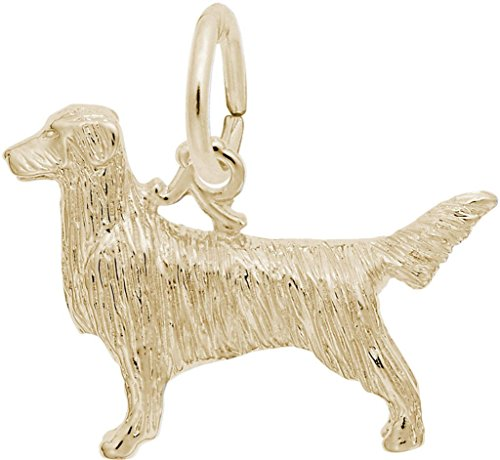 Dog Charm Retriever Gold Plated (Rembrandt Retriever Dog Charm - Metal - Gold-Plated Sterling Silver)