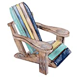 NOVICA Decorative Artisan Hand Carved Albesia Wood Chair Statuette, 'Beach Chair'