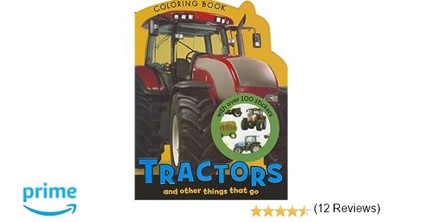 Leahs Farm Coloring Book : Tractors coloring book: make believe ideas: 9781780653396: amazon