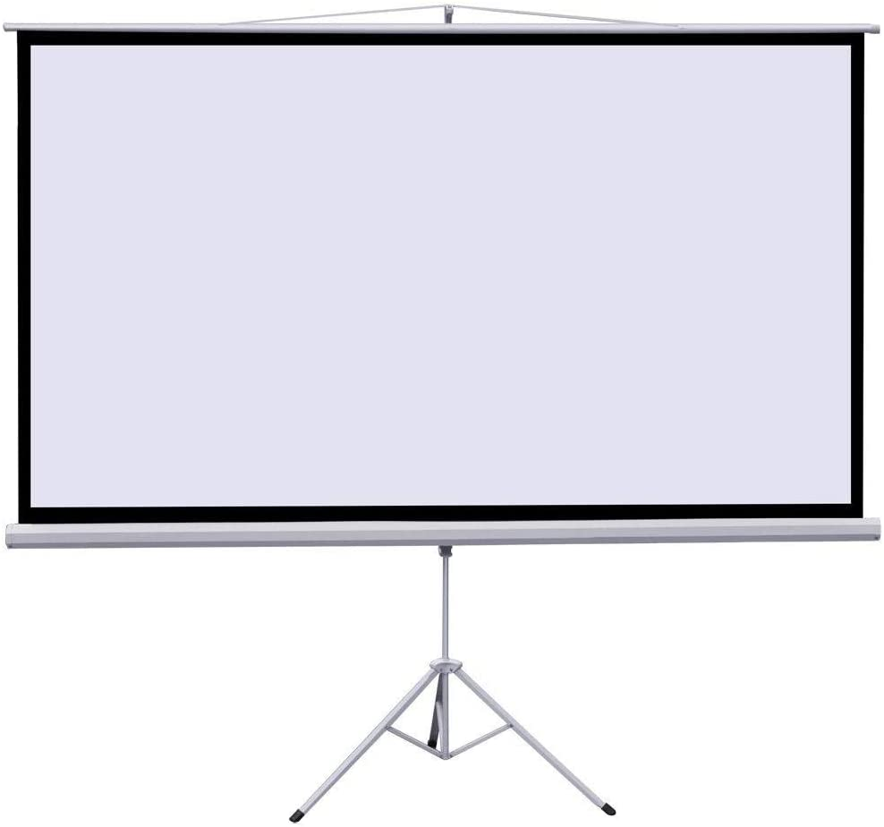 Foldable Portable Indoor Outdoor Projection Screen 4K HD with Premium Wrinkle-Free Design: 1.1 Gain 160/° Viewing Angle No Carrying Bag Neewer 100-inch 4:3 Projector Screen with Stand