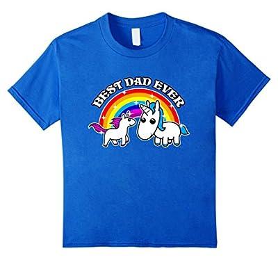 Best Dad Ever Cute Funny Unicorn Tshirt