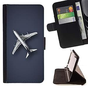 - Plain Airplane/ Personalizada del estilo del dise???¡¯???¡Ào de la PU Caso de encargo del cuero del tir???¡¯????n del s - Cao - For Samsung Galaxy S5 Mi
